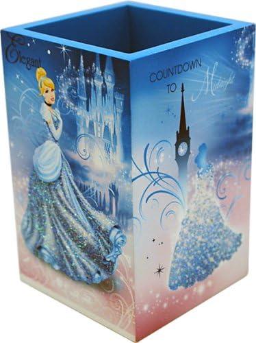 Joy Toy 90002 - Disney Cinderella Stiftehalter aus Holz, Geschenkpackung, 7 x 7 x 11 cm