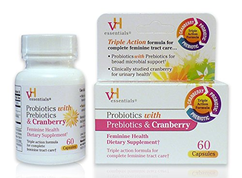 vH essentials Probiotics with Prebiotics and Cranberry Feminine Health Supplement