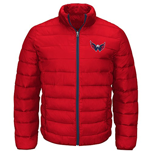 G-III Sports NHL Washington Capitals Men's Skybox Full Zip Packable Jacket, Red, X-Large