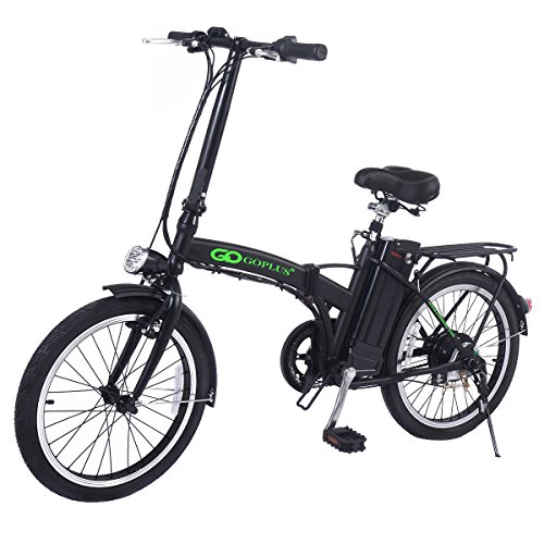 Goplus 20″ 250W Folding Electric Bike Sport Mountain Bicycle 36V Lithium Battery – DiZiSports Store