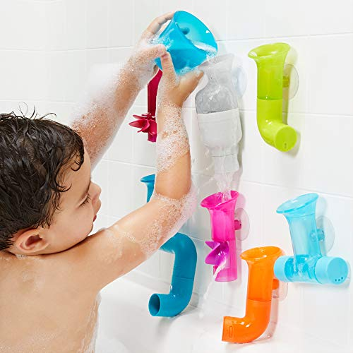 51WQZ1DTiqL - Boon Building Bath Toy Bundle with Pipes, Cogs and Tubes, Pack of 13