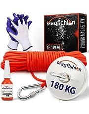 Magfishion® Vismagneet Set - 180 KG - Neodymium Magneet – 20m Touw - Borgmiddel - Handschoenen - Magneetvissen