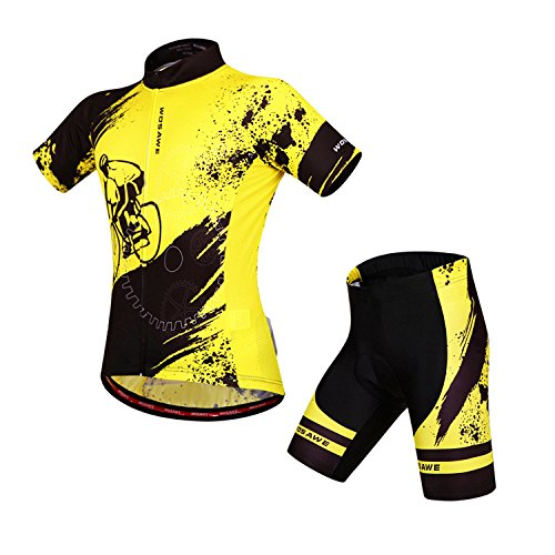 Alte Grün Fahrrad Kurzarm-Shorts Für Männer Helle Farbe Atmungsaktiv, Gelb