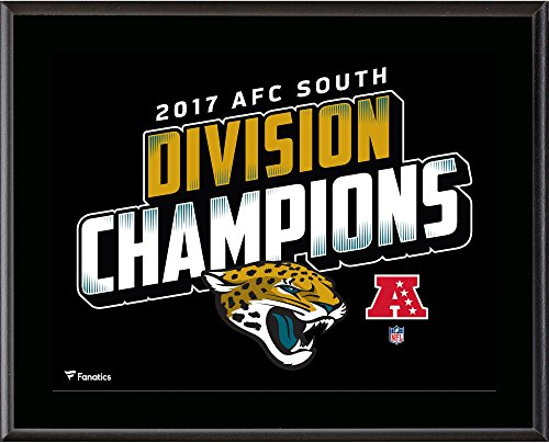 "Jacksonville Jaguars 10.5"" x 13"" 2017 AFC South Champions Sublimated Plaque - NFL Team Plaques and Collages"