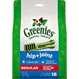 Greenies Hip & Joint Care Dental Chews for Dogs, Regular, 18 Count (Pack of 24)