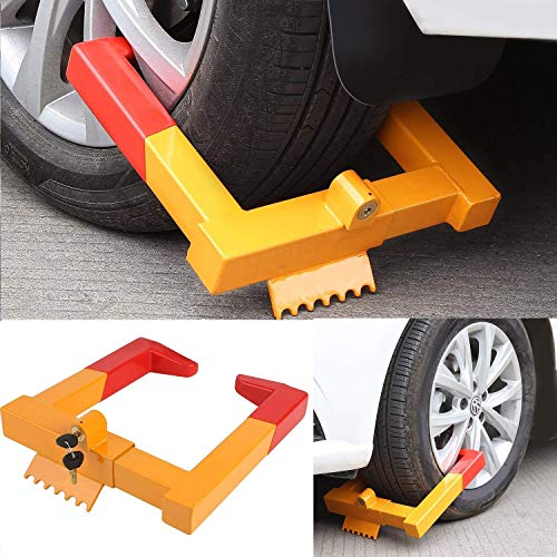 Car Wheel Lock,Anti Theft Tire Lock Clamp Boot Tire Claw Parking Car Truck RV Boat Trailer (Small)