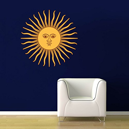 Argentina Sun Design - Full Color Wall Decal - 24