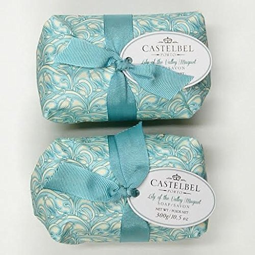 Castelbel Lily of the Valley Luxury Soap from Portugal - set of two (Valley Soap Luxury)