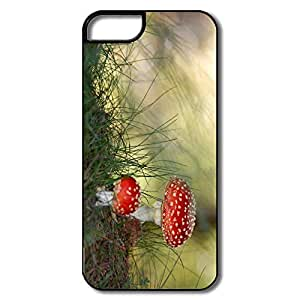 IPhone 5 5S Shell, Fly Agaric Mushrooms White/black Cases For IPhone 5