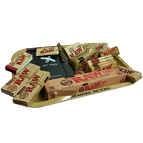 Price comparison product image RAW Small 1970s Style Rolling Tray - Jet Pack 365 Gift Set by RAW