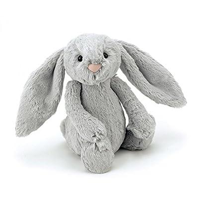 Jellycat Bashful Grey Bunny Stuffed Animal, Medium, 12 inches: Toys & Games