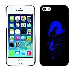 Caucho caso de Shell duro de la cubierta de accesorios de protección BY RAYDREAMMM - Apple iPhone 5 / 5S - Sexy Woman Stripper Neon Light Big Hair Boobs