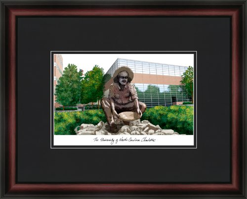 - Campus Images NC993A University of North Carolina, Charlotte Academic Framed Lithographic Print