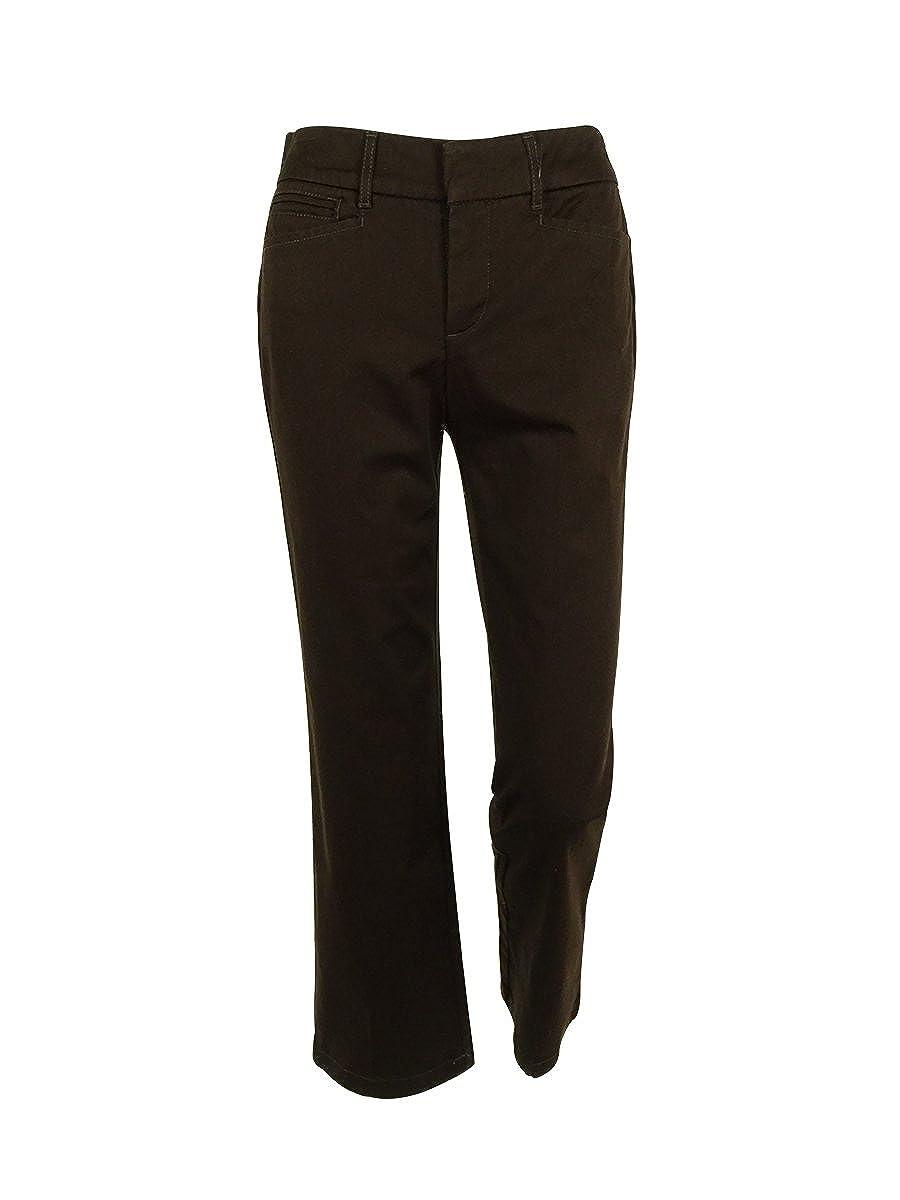 0274219ef1e JM Collection Women s No Gap Waistband Cotton Blend Pants (2P ...