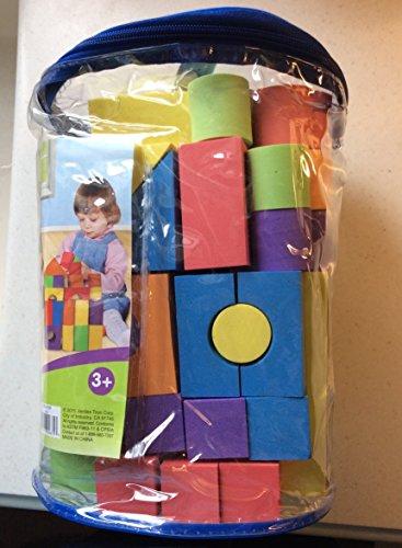 VERDES Soft and Safe Foam Toy Building Block - 100 Piece Set / Tote