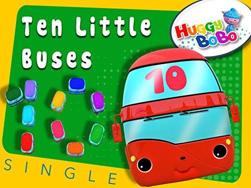 Ten Little Buses Nursery Rhymes By HuggBoBo