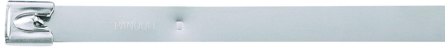 Panduit MLT6EH-LP Pan-Steel Self-Locking Cable Tie, General Purpose, Extra-Heavy Cross Section, AISI 304 Stainless Steel, 6.0'' Max Bundle Diameter, 1.00'' Min Bundle Diameter, 600lbs Min Tensile Strength, 0.010'' Thickness, 0.50'' Width, 23.4'' Length (Pack o by Panduit (Image #1)