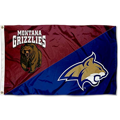 College Flags and Banners Co. Split Montana vs. Montana State House Divided 3x5 Flag