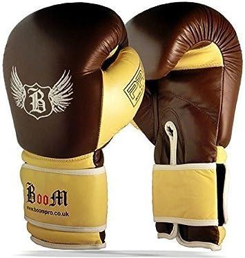 sparring Muay Thai Formazione Guanti PRO in Pelle Guantoni Da Boxe MMA