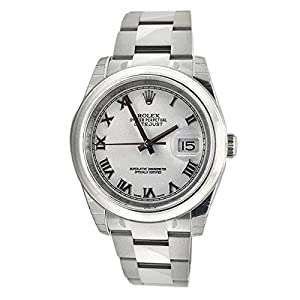 Rolex Datejust 36 White Roman Dial Steel Mens Watch 116200