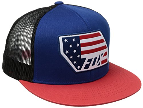 fox-mens-red-white-snapback-hat-true-blue-one-size
