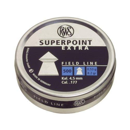 Umarex RWS Superpoint Extra 2317385 Field Line Air Gun Pellets, 0.177 Caliber, Silver