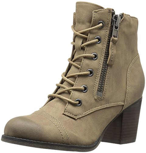 Woosterr Tobillo Paris gris para Mujer Madden Botín Taupe al Girl pardo qg1w71aC