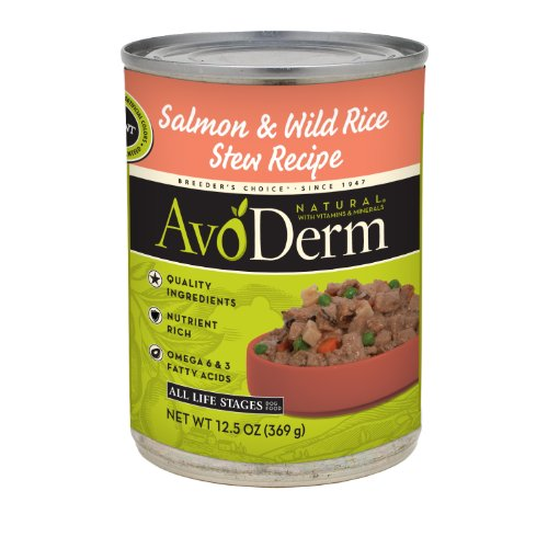 AvoDerm Naturals Salmon and Rice Canned Dog Food, 12.5--Ounce (Pack of 12)