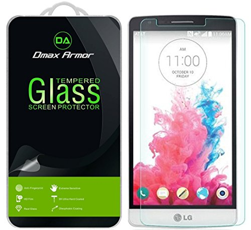 Dmax Armor [2-Pack] for LG G3 Screen Protector, [Tempered Glass] 0.3mm 9H Hardness, Anti-Scratch, Anti-Fingerprint, Bubble Free, Ultra-Clear