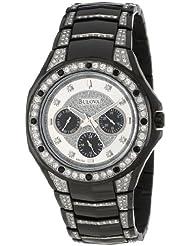 Bulova Mens 98C102  Crystal Bracelet Watch