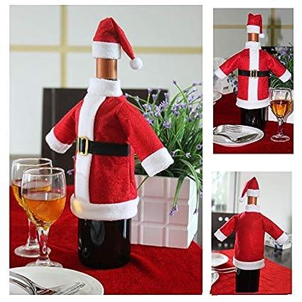 HOUSE CLOUD Funda para Botella de Vino Bolsa con Navidad Papá Noel Puede sorprender A Nadie