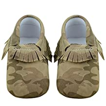 Chinatera Infant Baby Moccasins Soft Sole Army Camouflage Tassels Prewalker Toddler Shoes