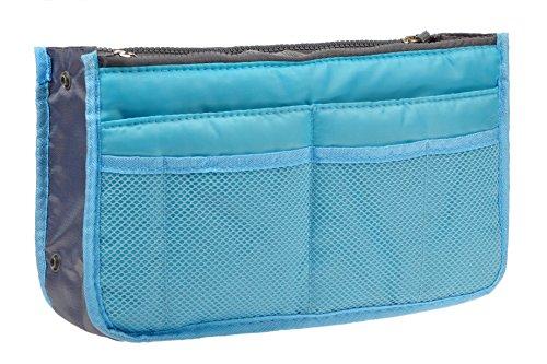 Vercord Purse Organizer Insert Travel Handbag Organizer Bag in Bag 13 Pockets Blue Medium
