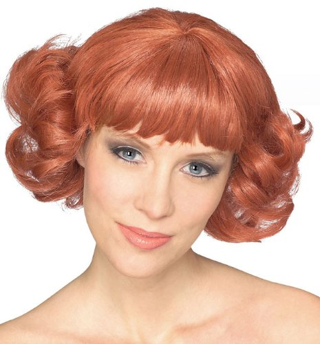 [Rubie's Costume Cutie Flip Wig, Auburn, One Size] (1950s Wig)