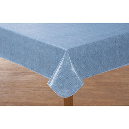 Miles Kimball Illusion Weave Vinyl Table Cover HSK 60″ x 120″ Oblong For Sale