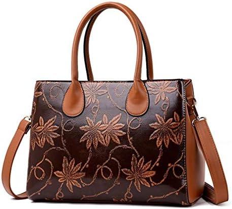 中国風バッグ、ハンドバッグレディースバッグ、財布、バッグ、ブラウン、34 * 25 * 13 Cm 美しいファッション