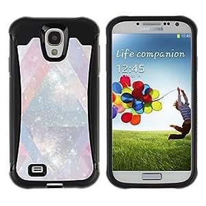 WAWU Funda Carcasa Bumper con Absorci??e Impactos y Anti-Ara??s Espalda Slim Rugged Armor -- universe mysterious cosmos stars lines -- Samsung Galaxy S4 I9500