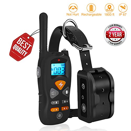 JIALANJIUYU Dog Training Collar,Shock Training Collar for Dogs, NO Hurt and IP67 Level Waterproof with 1800FT Remote Beep/Vibration/Shock Electronic Collar Modes for Small Medium Large Dogs Review