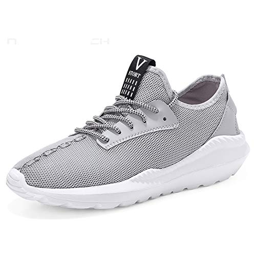 SSLOPY& Sneakers Men 2018 Breathable Shoes Tenis Casual Masculino Lightweight Men Shoes Summer Footwear Zapatillas Hombres Gray 10.5]()