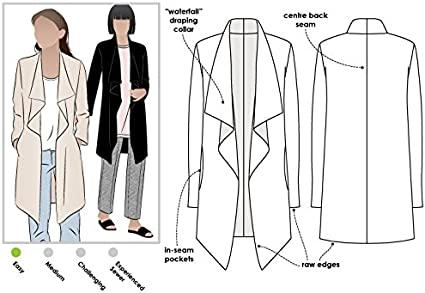 Estelle Ponte Jacket Style Arc Sewing Pattern Sizes 04-16 - Click for Other Sizes Available