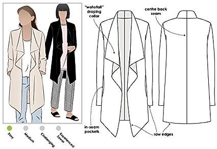 Amazon Com Style Arc Sewing Pattern Estelle Ponte Jacket Sizes
