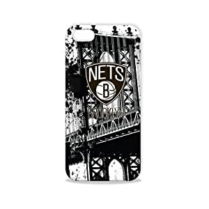 Tribeca Gear FVA7570 Hard Shell Case for iPhone 5 - Brooklyn Nets - 1 Pack - Retail Packaging - Black