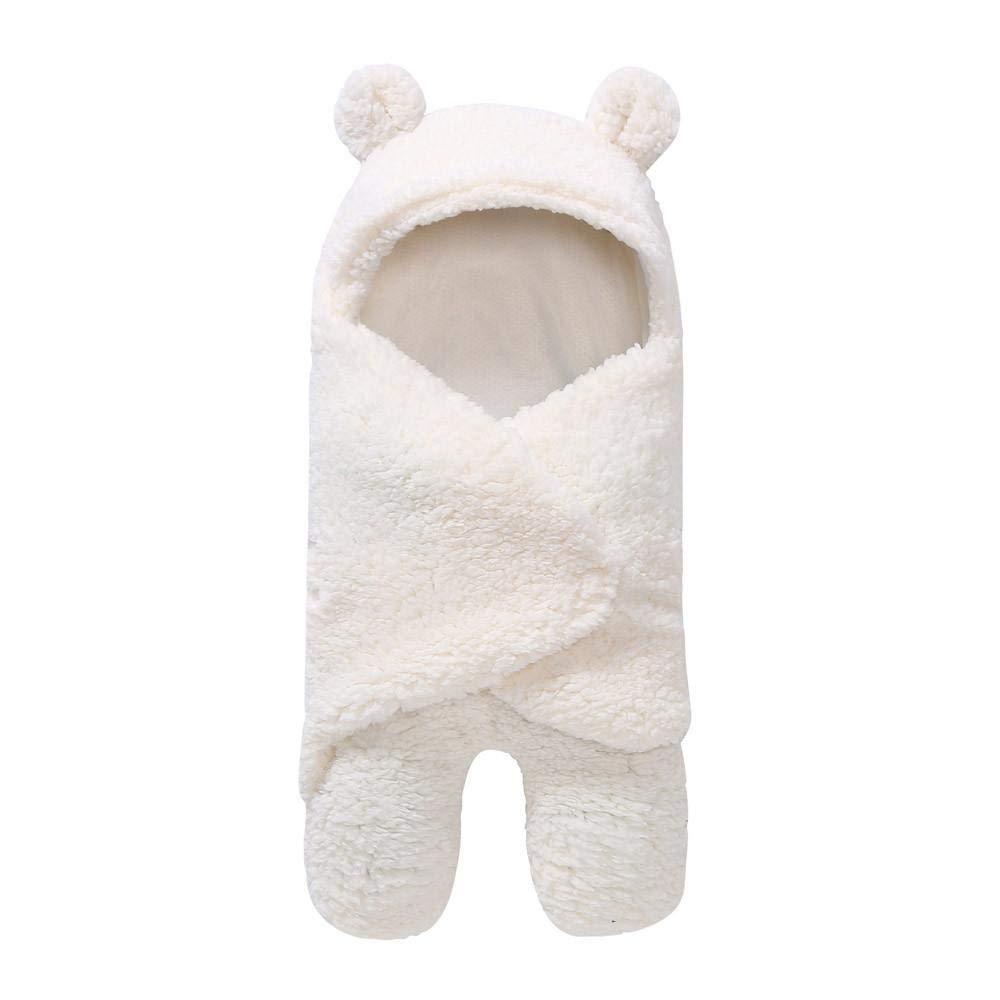 Sacco nanna avvolgente coperta neonato Boy Girl cute Sheep Prop fotografia sacco per passeggino sacco a pelo per bambini da 1/ /12/mesi bianco White