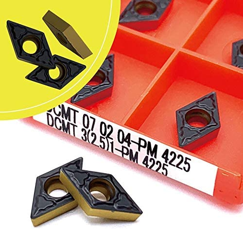 Hohe Qualität DCMT070204 PM 4225 Carbide Werkzeug Metall-Drehwerkzeug-Fräser CNC Produkt DCMT070204 (Farbe : 100pcs, Größe : DCMT070204 PM 4225)
