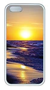 iPhone 5 5S Case landscapes nature sunset sea 7 TPU Custom iPhone 5 5S Case Cover White