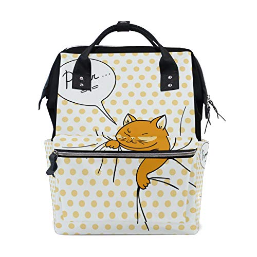(Funny Spy Cat Diaper Bags Mummy Tote Bags Large Capacity Multi-Function Backpack for Travel)