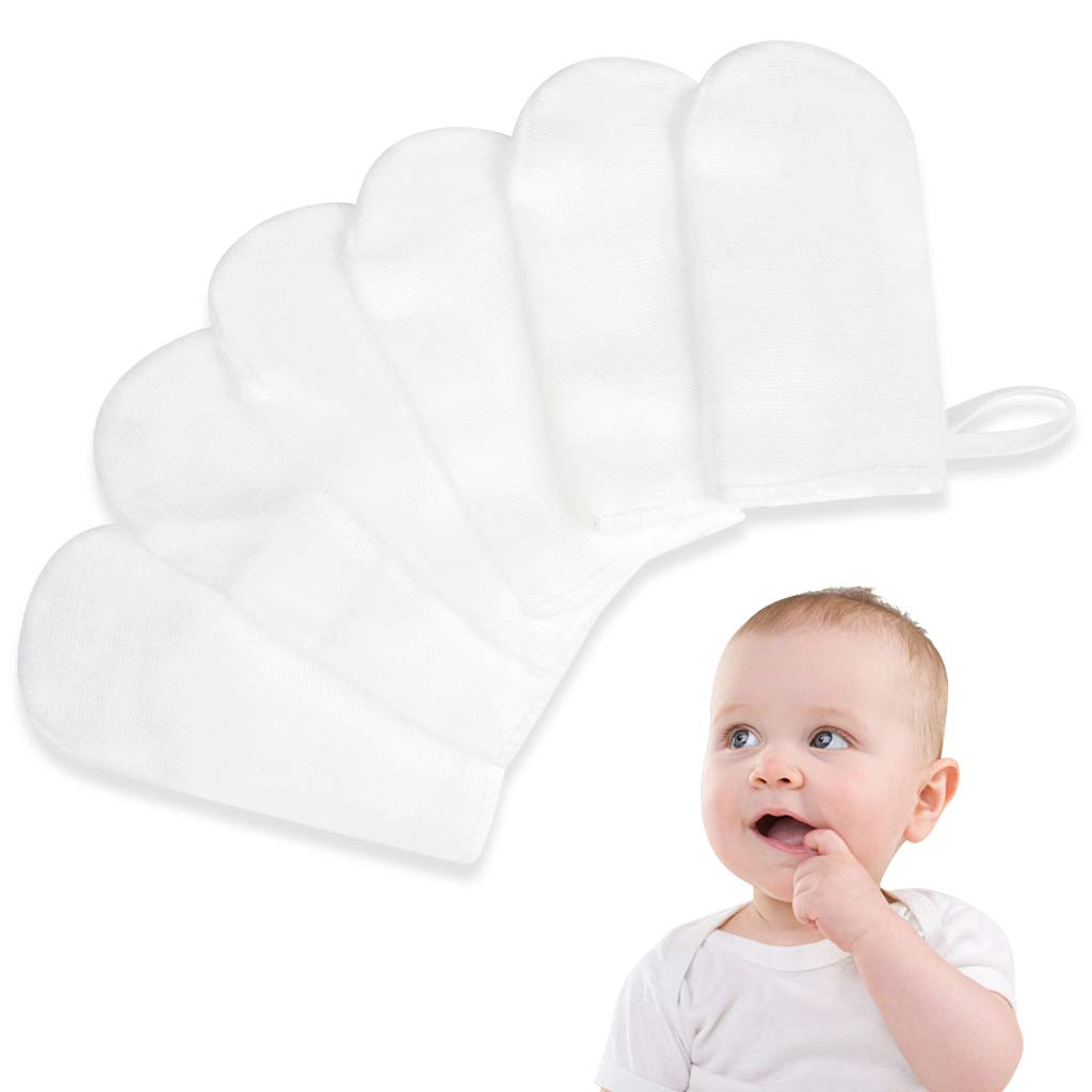 Amazon.com : 6Pcs/Set Babys Teeth Soft Gauze Infant Finger Clean Oral Hygiene Brush : Baby