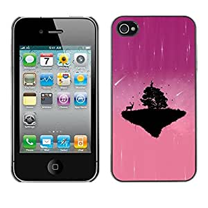 LECELL -- Funda protectora / Cubierta / Piel For Apple iPhone 4 / 4S -- Pink Cute Planet --