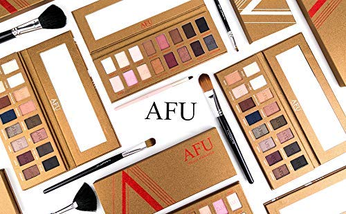 AFU High Pigmented Eyeshadow Palette Matte + Shimmer 16 Colors Makeup Natural Bronze Neutral Smokey Blendable Waterproof Eye Shadows Cosmetic - E-11 by AFU (Image #9)