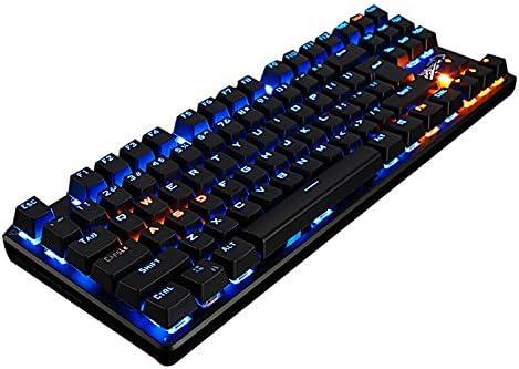 LINGBAO JIGUANSHI Gaming Keyboard 87 teclas de ordenador USB ...